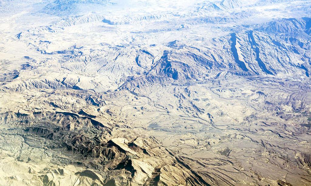 Pohled z letadla Emirates 3