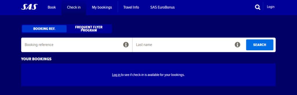 Check-in SAS