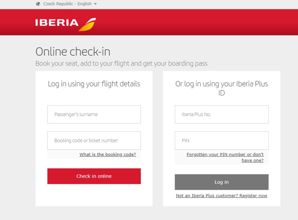 Check-in Iberia