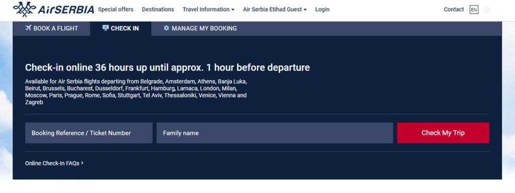 Check-in Air Serbia