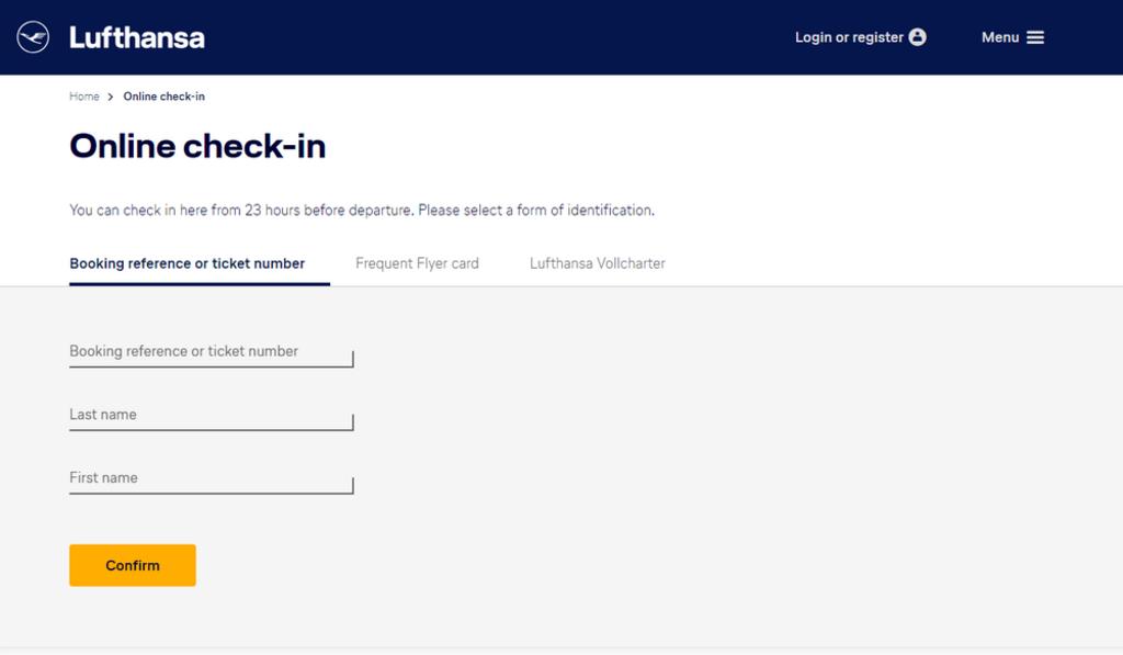 Check-in Lufthansa