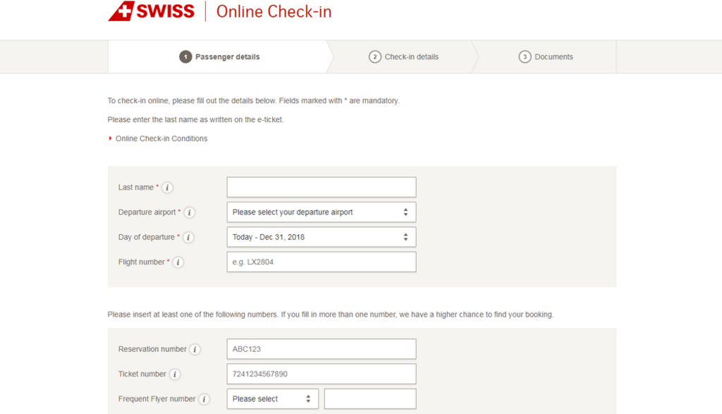 Check-in Swiss
